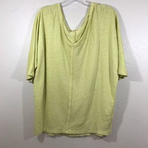 Eileen Fisher linen top 3/4 sleeve size Large